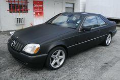 a 3M black matte car wrap Mercedes Benz S600