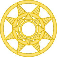 Surya Majapahit by on DeviantArt Steampunk Kunst, Flag Logo, Geometry Art, Alternate History, Medieval Fantasy, Tantra, Coat Of Arms, Ancient Art, Asian Art