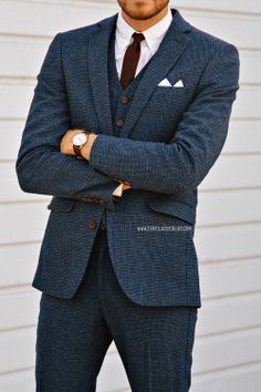 timex easy reader, blue suit, burgundy tie