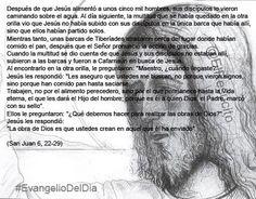 """#EvangelioDelDia ... """"La obra de Dios es que ustedes crean en aquel que él ha enviado"""""""" ..."""