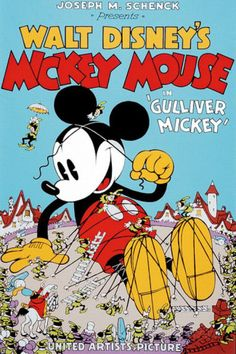 Items similar to Disney-Walt Disney's Mickey Mouse-Gulliver Serigraph on Etsy Walt Disney Mickey Mouse, Disney Pixar, Retro Disney, Disney Micky Maus, Mickey Mouse Donald Duck, Walt Disney Movies, Classic Disney Movies, Disney Movie Posters, Disney Cartoon Characters