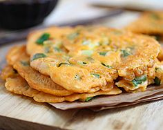 Pajeon (Korean Scallion Pancake)   Easy Asian Recipes at RasaMalaysia.com - Page 2 ((Make with GF flour and GF soy sauce)