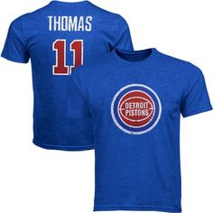 Majestic Threads Isiah Thomas Detroit Pistons Name And Number Premium Tri-Blend T-Shirt