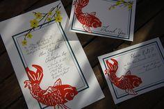Customizable koi set https://www.etsy.com/listing/83689082/elegant-koi-invitation-design