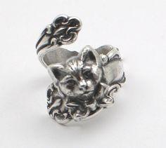 Soldered Spoon Ring  Original So Cute Design Adjustable Silver