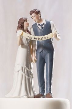 We Did Cake Topper Too Cute Funny Wedding Cakes
