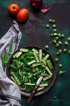 Achari Dahi Bhindi Recipe (Punjabi Sabji) - Binjal's VEG Kitchen