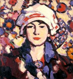 John Duncan Fergusson, Scottish artist and sculptor, regarded as one of the major artists of the Scottish Colourists school of painting. With Modern Art Century Art And Illustration, Illustrations, Figure Painting, Painting & Drawing, John Duncan, Figurative Kunst, L'art Du Portrait, Art Gallery, Ouvrages D'art