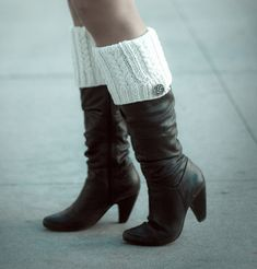 One skein boot toppers knit pattern $5 by Shireen Nadir