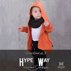 Let's add some color and style to this season  'Hype Way' is our recently released hooded cardi made with the softest and warmest fabric (300g) featuring a reversible look and feel side pockets and the radest front cut for the ultimate look  4 unisex colors to choose from and sizes 0-6 years in store now  http://ift.tt/1TgQUwL #mischiefandco #winterstyle #winterfashion #winteressentials #hoodieseason