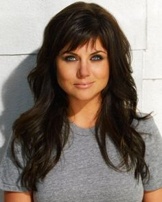 long hair w/ bangs, I'm going to do this next time. Let me be honest and say that out of all tv show wives, she has the best hair and well I love her on White Collar!
