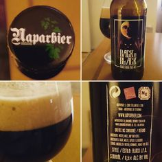 Back in Black from Naparbier  Another nice Beer from Spain. #backinblack #naparbier #beer #bier #spain #spanishbeer #blackipa