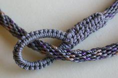 kumihimo braid, knotted finish, bonded nylon beading cord