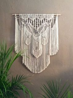 Large Macrame Wall Hanging Tapestry Woven Wall door MacrameElegance