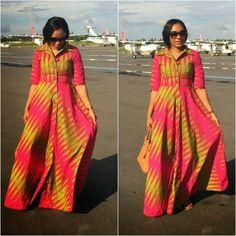 Zanzea Vestidos Summer Fashion Women Dress Ladies Striped Off Shoulder Side Split Loose Irregular Long Maxi Dress Plus Sizes African Maxi Dresses, Latest African Fashion Dresses, African Dresses For Women, African Attire, African Wear, African Women, African Inspired Fashion, African Print Fashion, African Prints