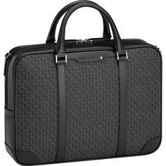 몽블랑 시그니처 블랙 서류 가방 스몰