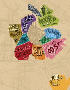 TOUCH esta imagen: Interactive map Neighbourhoods Amsterdam by I amsterdam