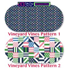 NEW Vineyard Vines Inspired Vinyl Monogram Decal by CuttinCrazy on Etsy