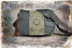 Leather Camera Bag New    Dark Olive Tapestry by PorteenGear, $140.00