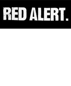 Red Alert patch ''words'' Patch $1.45 #punk #music #punkpatches #clothing www.drstrange.com