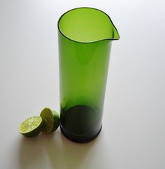 Glass Pitcher - Swedish Aseda Bo Borgstrom Mid Century Modern Cocktail or Juice Pitcher - Leaf Green. $59.00, via Etsy.