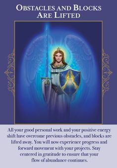Oracle Card Obstacles And Blocks Are Lifted   Doreen Virtue - Official Angel Therapy Website