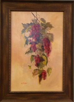 """""""Red Grapes"""" by Lu Haskew available through Columbine Gallery on Amazon Fine Art"""