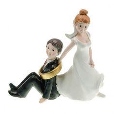 Figuras de novios Sígueme. Pastel de bodas