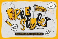 Freestyler - Brushes for Procreate by Ian Barnard on @creativemarket