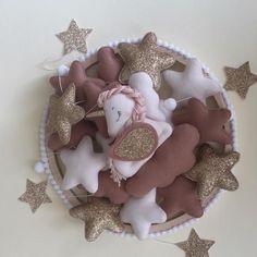 Baby Girl Nursery Decor, Baby Room, Unicorn Mobile, Fabric Flower Tutorial, Newborn Toys, Beautiful Unicorn, Felt Mobile, Hanging Mobile, Unicorn Gifts