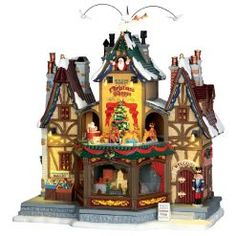 Lemax Holiday Hamlet Christmas Shoppe, With 4
