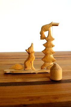 Hand Carved Wooden Toy from Russia  by TidepoolSupplyCo on Etsy