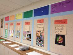 200 × 900 pixels art classroom decor, art classroom management, classroom p Art Classroom Decor, Art Classroom Management, Classroom Posters, Classroom Organization, Classroom Objectives, Objectives Board, Classroom Ideas, Classroom Design, Elementary Art Rooms