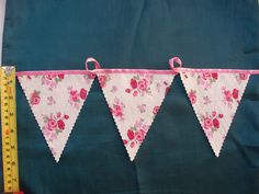 vintage style tea party bunting 2 meters chic rose mothering sunday tea party