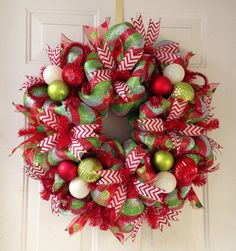 Whimsical Elegant Deco Mesh Wreath Extra Large by SouthernDoorArt