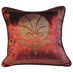 Fortuny Vintage Silk Velvet Pillow. | From a unique collection of antique and modern pillows and throws at http://www.1stdibs.com/furniture/more-furniture-collectibles/pillows-throws/