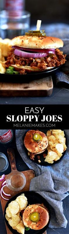 28417 best quick and easy dinner recipe ideas images on pinterest in these easy sloppy joes are just that easy ground beef is browned with diced forumfinder Gallery