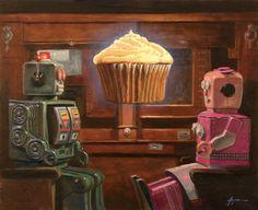 Imagekind Wall Art Print Entitled Train Ride Home by Eric Joyner Framed Wall Art, Wall Art Prints, Fine Art Prints, Canvas Prints, Framed Prints, Eric Joyner, Robot Art, Robots, Donut Decorations