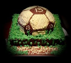 Chocolate fball bday cake