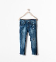 Zara Boys - Slim Paint Splatter Jeans