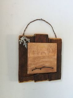 Cabin Decor, Rustic Wall Art, Nature Inspired, Neutral Home Decor, Office, Gift For Him, Dad, Twigs, Reclaimed Wood, New Home, Farmhouse