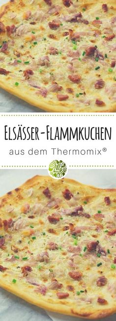 Backe unseren Elsässer-Flammkuchen aus dem Thermomix®️️️️ noch heute n. Party Snacks, Cheeseburger Chowder, Quiche, Appetizers, Food And Drink, Low Carb, Cooking, Breakfast, Blog