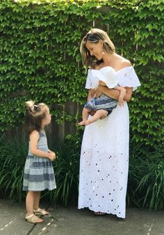 Celebrating My 2 Year Blogiversary With My Tribe (+ A Pretty Dress) - my kind of sweet | mom style | mom life | mom of two | girl mom | summer style | off the shoulder dress | maxi dress | family photos