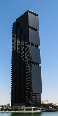 Unique all black building