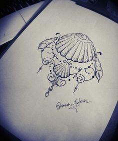 #praia #concha #drawings #arte #desenho #desenhista #boanoite #draw #artista #lapis #margarida #sketchbook,