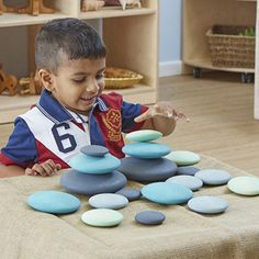 Smooth, domed shapes to stack, balance, roll and explore. Sensory Rooms, Baby Sensory, Sensory Play, Infant Activities, Preschool Activities, Dream Jar, Baby Room Neutral, Early Education, Baby Play