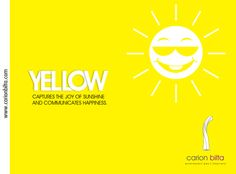 yellow captures the joy of sunshine and communicates happiness