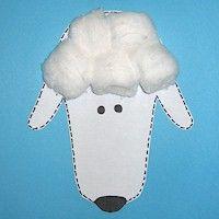 Handprint Easter Lamb...baaaa!