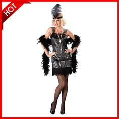 2015 Fast Delivery  High Quility Halloween Costumes Flirty Flapper Sexy Dress From S to Plus Size 2XL E026 51€