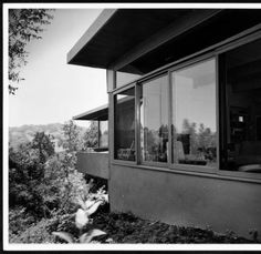 Exterior view of the Daugherty Residence, Los Angeles [s. Usc Library, Cinema Posters, Black History, Modern Architecture, Paths, Exterior, Gallery, Masters, Image